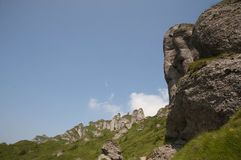 Ciucas Mountains. Geological formations, Ciucas mountain in Romanian Carpathians Royalty Free Stock Photos