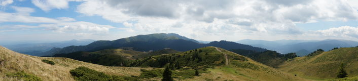 Ciucas Mountains in Romania 14 - Panorama Royalty Free Stock Images