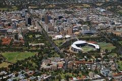 Ciudad aérea de Adelaide Foto de archivo libre de regalías