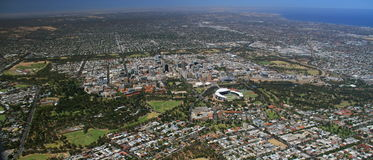 Ciudad aérea de Adelaide Imagenes de archivo