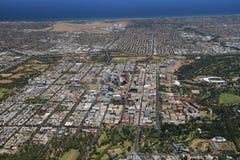 Ciudad aérea de Adelaide Imágenes de archivo libres de regalías