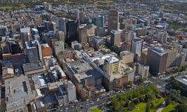 Ciudad aérea de Adelaide Fotos de archivo libres de regalías