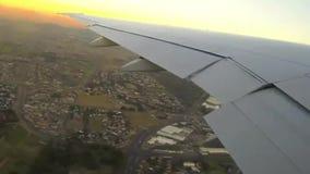 Ciudad aérea de Doha del cabo de Suráfrica del paso elevado metrajes