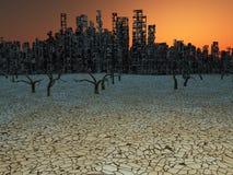 Ciudad abandonada Foto de archivo