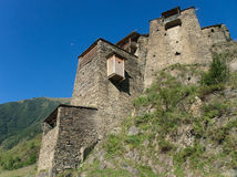 Ciudad abandonada de la montaña Fotografía de archivo libre de regalías