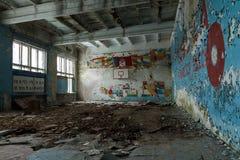 Ciudad abandonada del fantasma foto de archivo