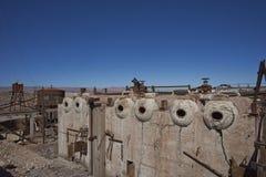 Ciudad abandonada en el desierto de Atacama, Chile de la explotación minera Imagen de archivo