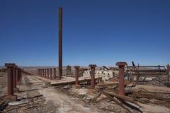 Ciudad abandonada en el desierto de Atacama, Chile de la explotación minera Fotos de archivo libres de regalías