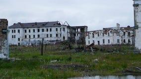 Ciudad abandonada en tundra en Rusia septentrional Foto de archivo libre de regalías