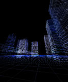 Ciudad abstracta 3D ilustración del vector