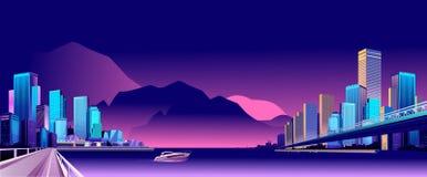Ciudad abstracta de la noche