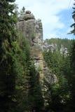 Ciudad Adrspach de la roca Imagen de archivo libre de regalías