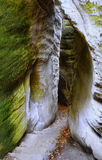 Ciudad Adrspach, parque nacional, República Checa de la roca Fotografía de archivo