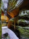 Ciudad Adrspach, parque nacional, República Checa de la roca Foto de archivo libre de regalías