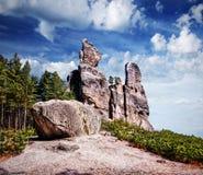 Ciudad Adrspach, parque nacional, República Checa de la roca Imagenes de archivo