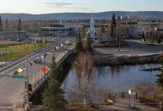 Ciudad Alaska de Fairbanks Fotografía de archivo