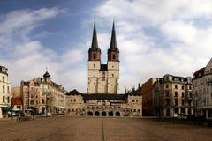 Ciudad alemana Halle Fotos de archivo libres de regalías