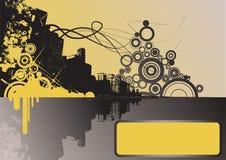 Ciudad amarilla de Grunge Imágenes de archivo libres de regalías