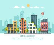 Ciudad amistosa verde de la energía y del eco Arquitectura moderna, edificios, casas urbanas de alta tecnología, coches, tejados  Foto de archivo libre de regalías