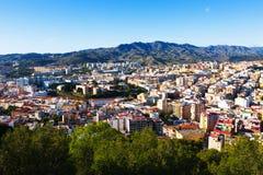 Ciudad andaluz Málaga Imagen de archivo libre de regalías