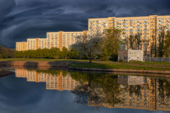 Ciudad antes de la tormenta Imagenes de archivo