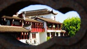 Ciudad antigua de ŒTraditional del viejo Streetï del ¼ de ŒChinaï del ¼ de Shanghaiï ¼ de ŒShippo Fotos de archivo