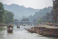 Ciudad antigua de Fenghuang imagen de archivo libre de regalías