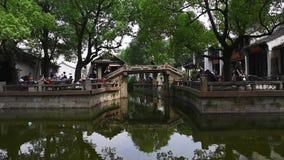 Ciudad antigua de Huishan, Wuxi, Jiangsu almacen de metraje de vídeo