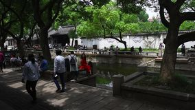 Ciudad antigua de Huishan, Wuxi, Jiangsu almacen de video