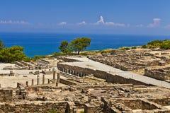 Ciudad antigua de Kameiros en la isla de Rodas Fotos de archivo libres de regalías