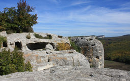 Ciudad antigua de la cueva Foto de archivo libre de regalías
