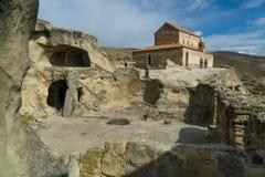 Ciudad antigua de la cueva en la roca Upliscihe, Georgia Fotografía de archivo libre de regalías