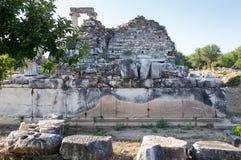 Ciudad antigua de los Aphrodisias, museo de los Aphrodisias, Aydin, región egea, Turquía - 9 de julio de 2016 Imagen de archivo libre de regalías