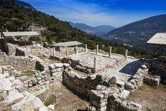 Ciudad antigua de Lycian de Arykanda Descripción del complejo del gimnasio fotografía de archivo libre de regalías