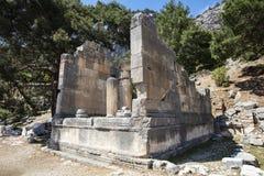 Ciudad antigua de Lycian de Arykanda Descripción del complejo del gimnasio fotos de archivo