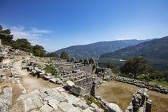 Ciudad antigua de Lycian de Arykanda Descripción del complejo del gimnasio imagen de archivo
