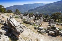 Ciudad antigua de Lycian de Arykanda Descripción del complejo del gimnasio fotografía de archivo