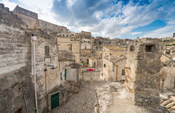 Ciudad antigua de Matera (Sassi di Matera), capital europea del Cu Fotos de archivo libres de regalías