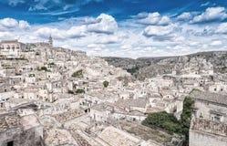 Ciudad antigua de Matera (Sassi di Matera), capital europea del Cu Imagen de archivo