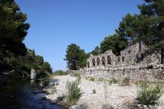 Ciudad antigua de Olympos Imágenes de archivo libres de regalías