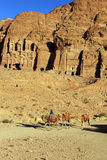 Ciudad antigua de Petra Built en Jordania Imagenes de archivo
