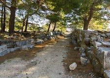 Ciudad antigua de Priene Imagenes de archivo