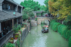 Ciudad antigua de Shangai Fengjin de China Fotografía de archivo