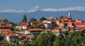 Ciudad antigua de Sighnaghi de Georgia Imagen de archivo