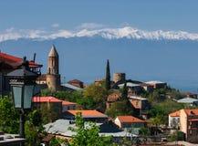 Ciudad antigua de Sighnaghi de Georgia Imágenes de archivo libres de regalías