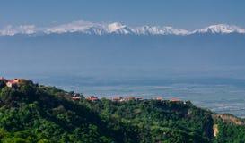 Ciudad antigua de Sighnaghi de Georgia fotografía de archivo libre de regalías