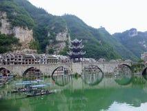 Ciudad antigua de Zhenyuan, China fotografía de archivo libre de regalías