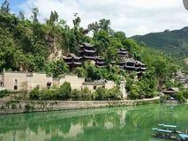 Ciudad antigua de Zhenyuan, China fotografía de archivo