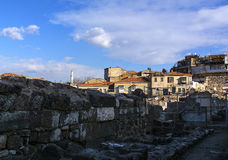 Ciudad antigua del ágora de Esmirna Fotografía de archivo libre de regalías