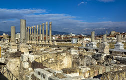 Ciudad antigua del ágora de Esmirna fotos de archivo